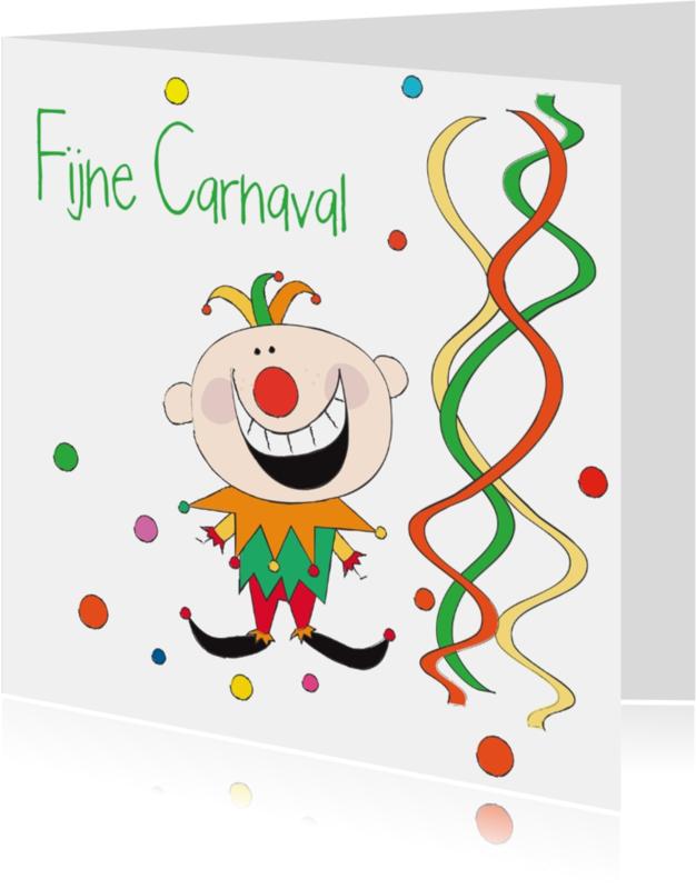Carnavalskaarten - Fijne Carnaval nar