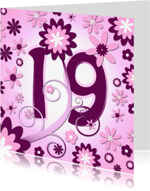 Verjaardagskaarten - flowerpower3 - 19 jaar