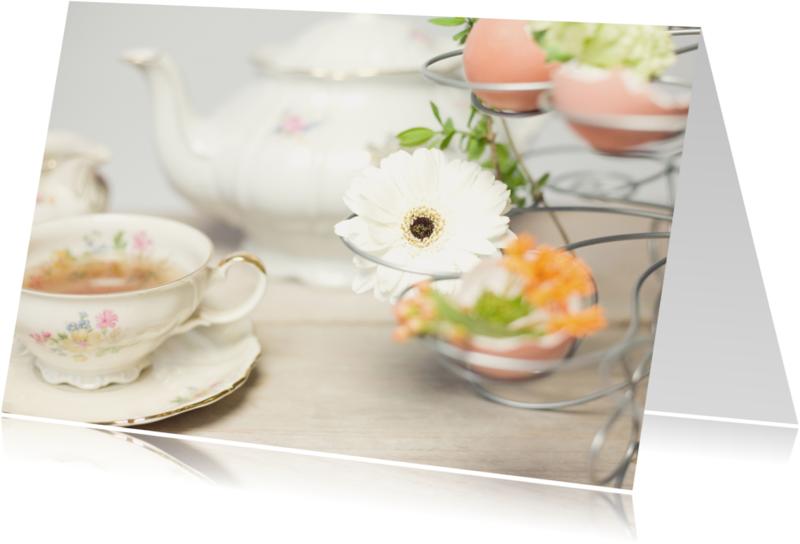 Zomaar kaarten - Flowers & tea