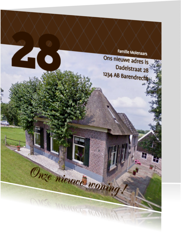 Verhuiskaarten - Foto 4kant Huisnummer - BK