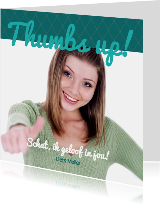Coachingskaarten - Foto 4kant Thumbs up! - BK