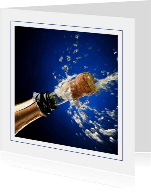 Nieuwjaarskaarten - Fotokaart champagne