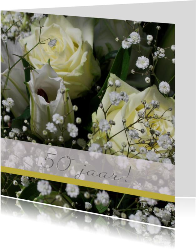 Jubileumkaarten - fotokaart vijftig jaar getrouwd