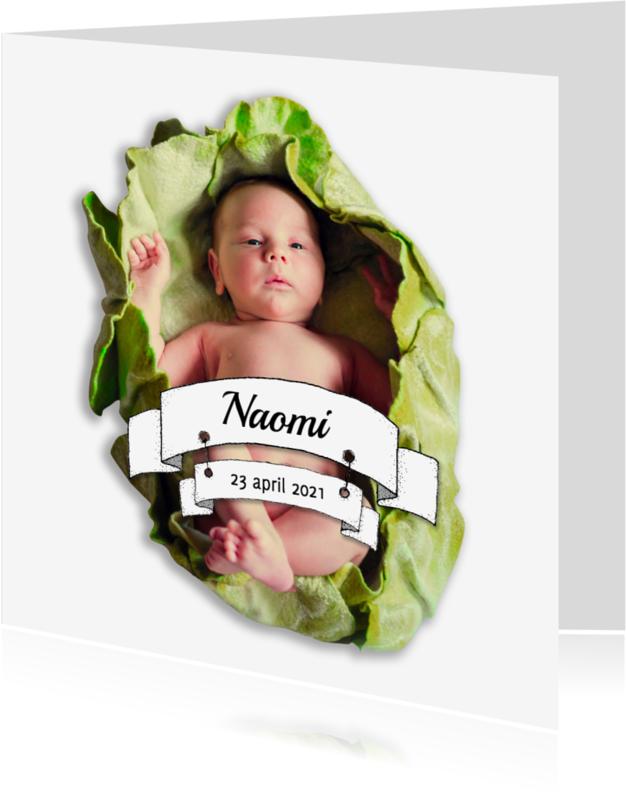 Geboortekaartjes - Geboorte banners fotokaart - HR