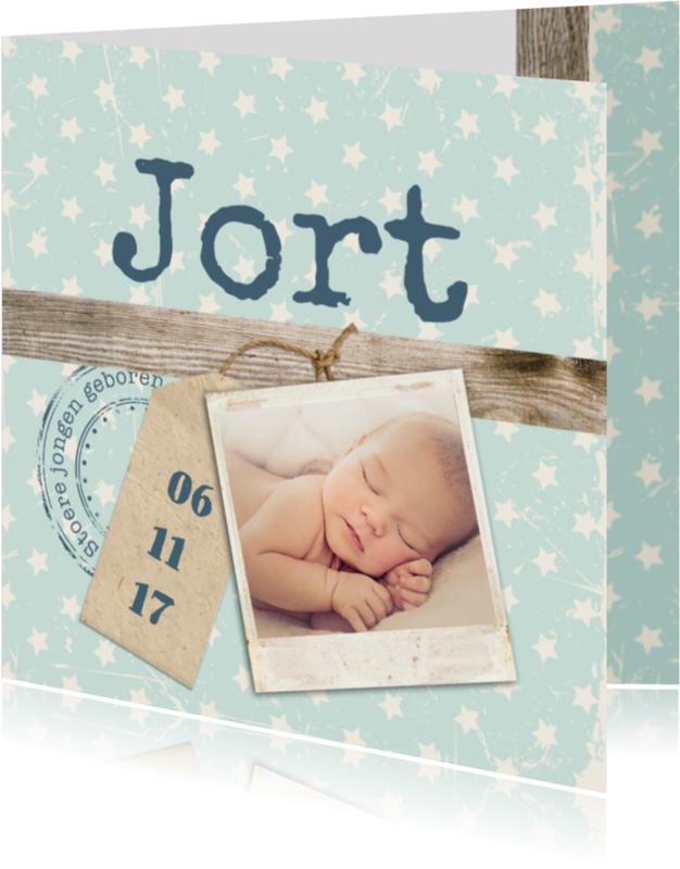 Geboortekaartjes - Geboorte foto jort - B