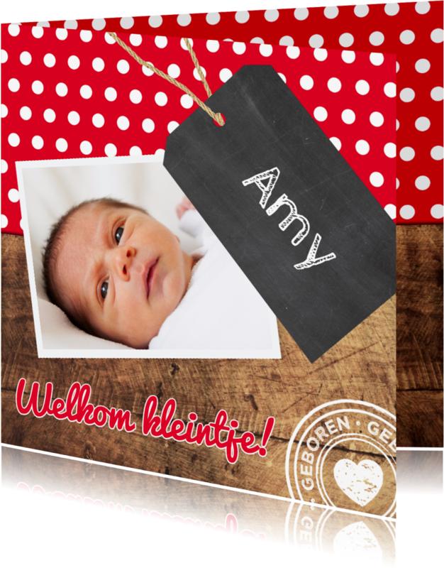 Geboortekaartjes - Geboorte Welkom kleintje - DH