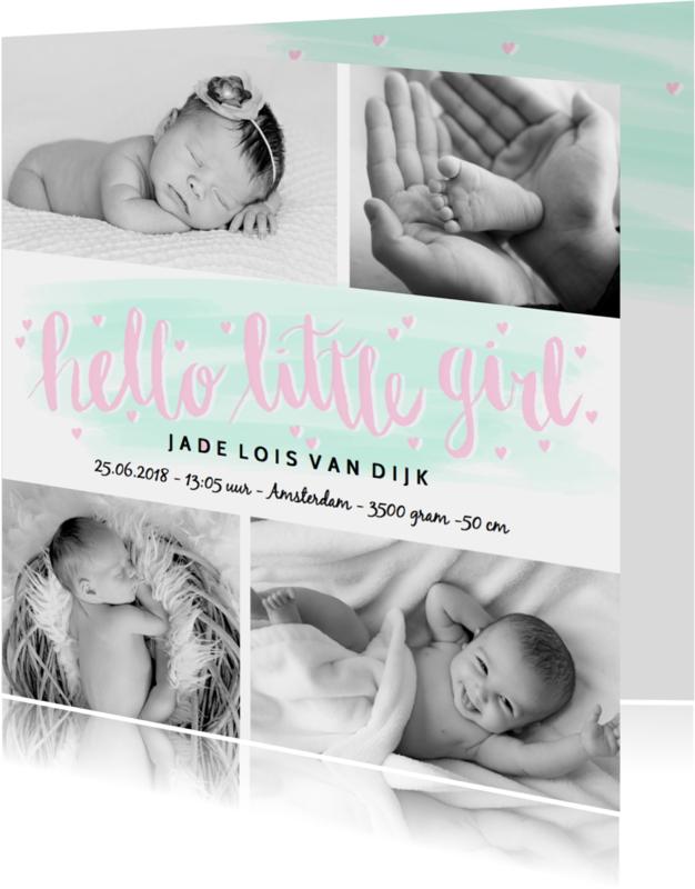 Geboortekaartjes - Geboortekaartje foto's tekst hip