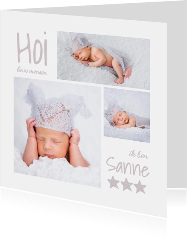 Geboortekaartjes - Geboortekaartje fotocollage - OT