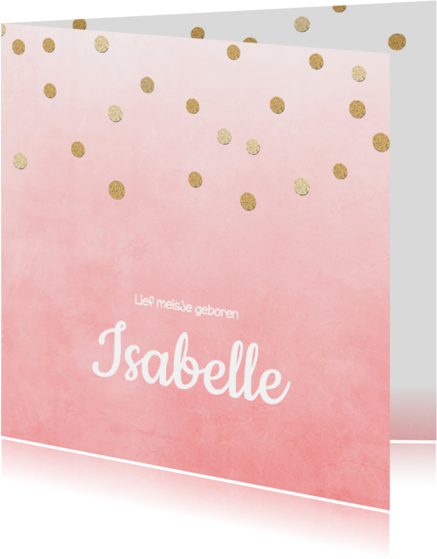 Geboortekaartjes - Geboortekaartje_Isabelle_SK