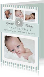Geboortekaartjes - Geboortekaartje Jongen Strepen