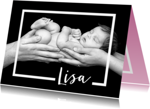 Geboortekaartjes - Geboortekaartje lijn liggend- OT