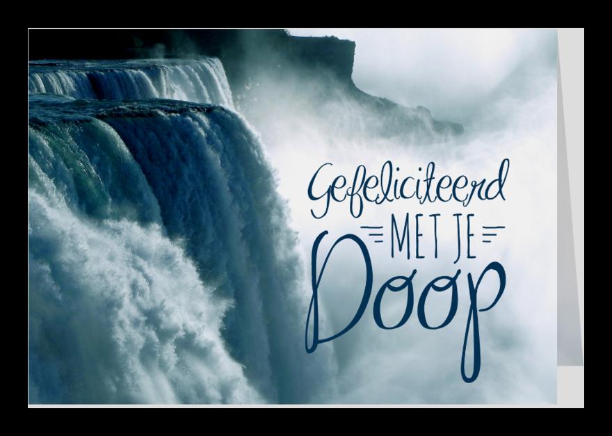 Religie kaarten - Gefeliciteerd doop volwassenen