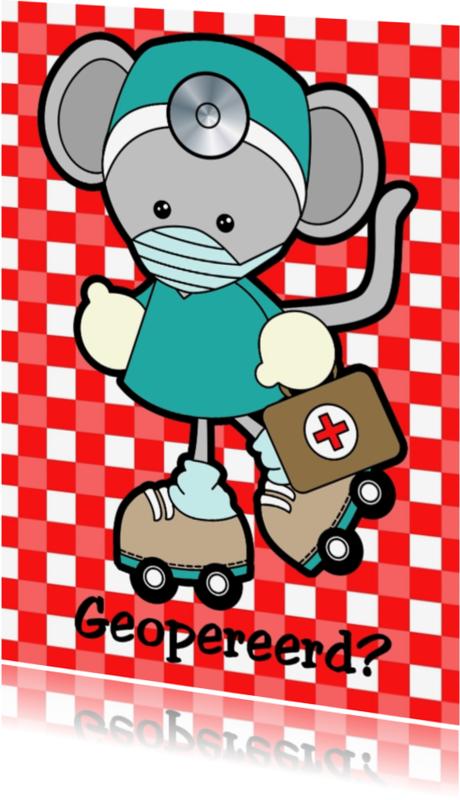 Beterschapskaarten - Geopereerd muis dokter