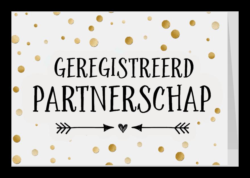 Felicitatiekaarten - Geregistreerd partnerschap - confetti