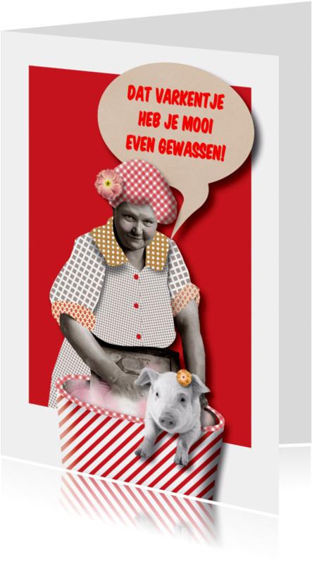 Geslaagd kaarten - Geslaagd - Gewassen Varken - MW