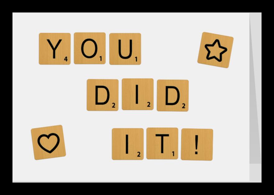 Geslaagd kaarten - Geslaagd Scrabble You Did It