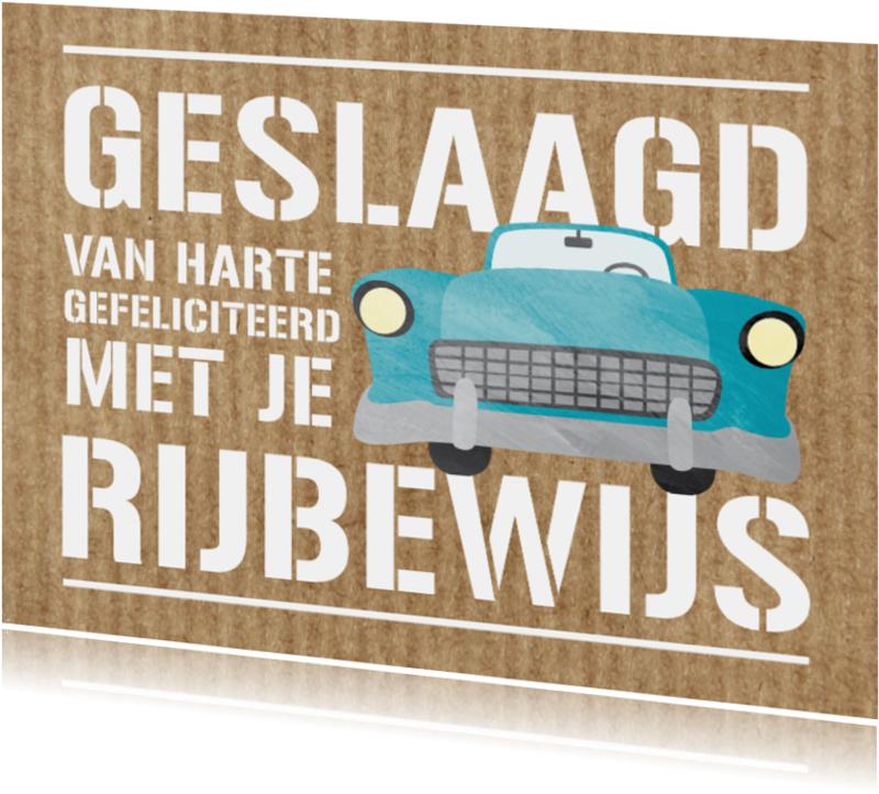 Geslaagd kaarten - Geslaagd voor rijbewijs auto