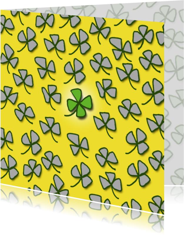 Sterkte kaarten - good luck in geel