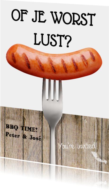 Uitnodigingen - Grappige BBQ uitnodiging