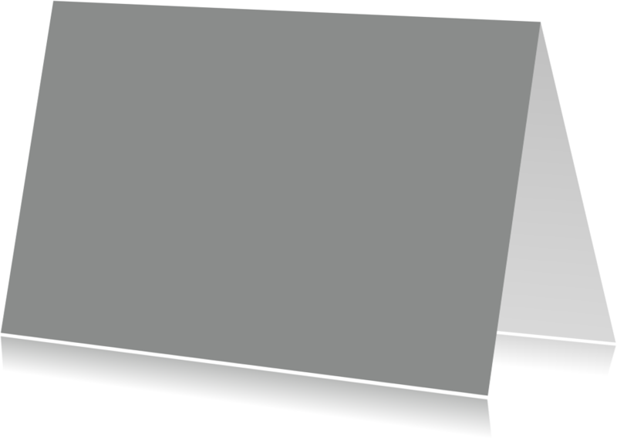 Zomaar kaarten - Grijs dubbel liggend