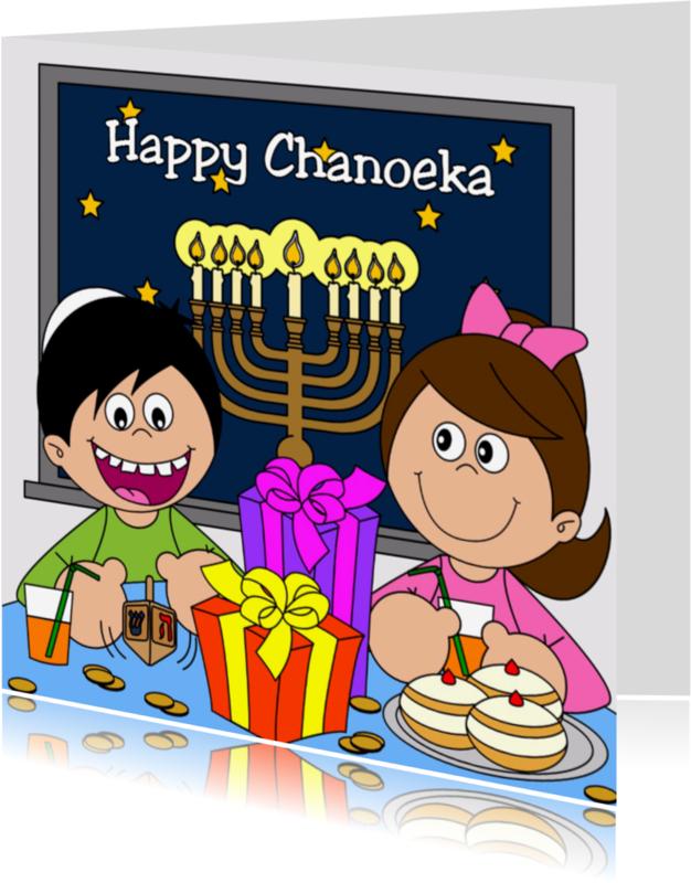 Religie kaarten - Happy Chanoeka