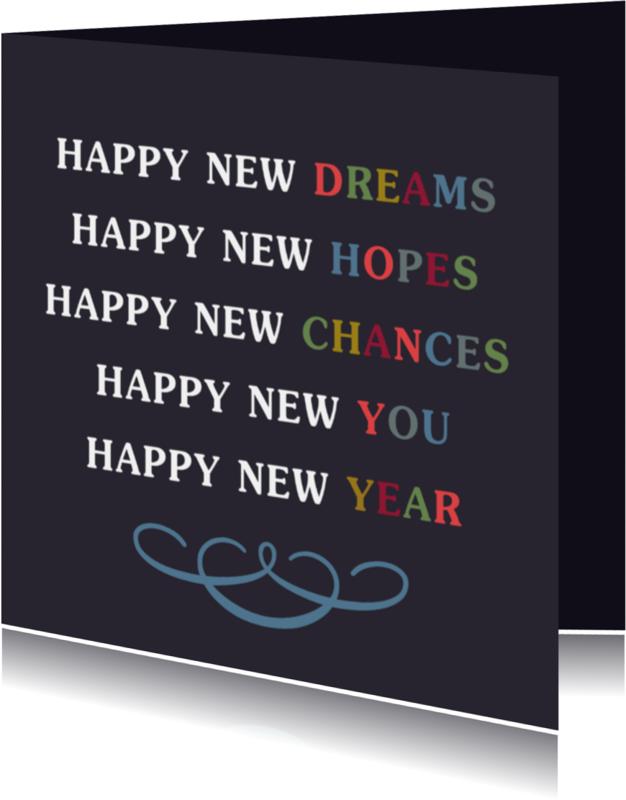Nieuwjaarskaarten - Happy new