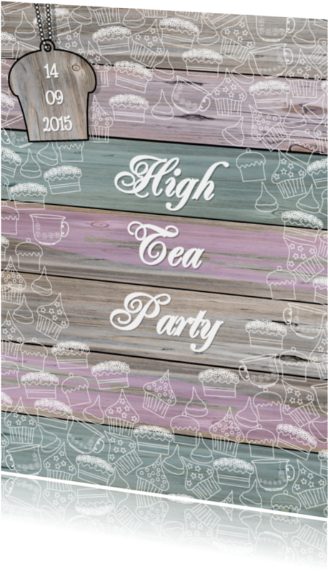 Uitnodigingen - High Tea Party THEE en TAART