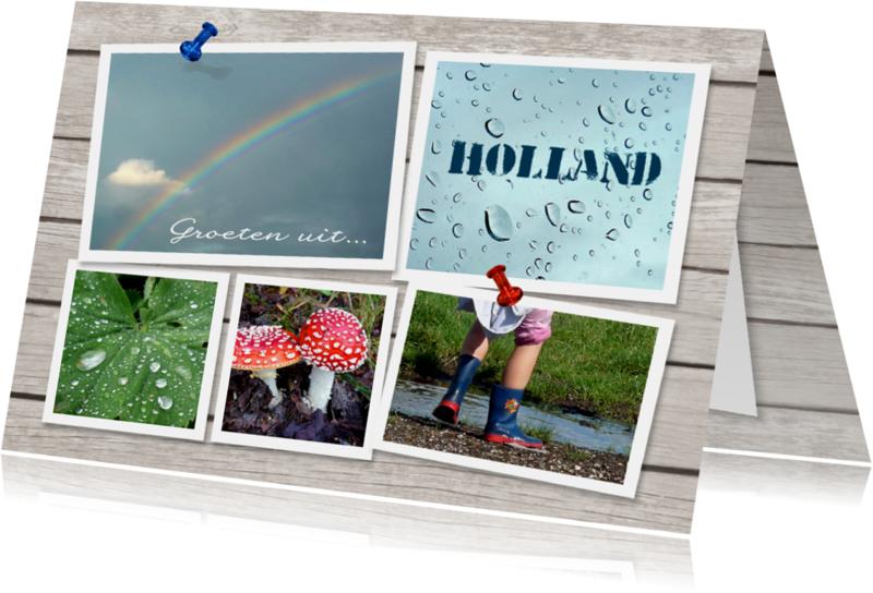 Vakantiekaarten - Hollandse groeten - fotokaart