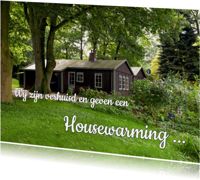 Uitnodigingen - Housewarming - foto huis liggend - OT