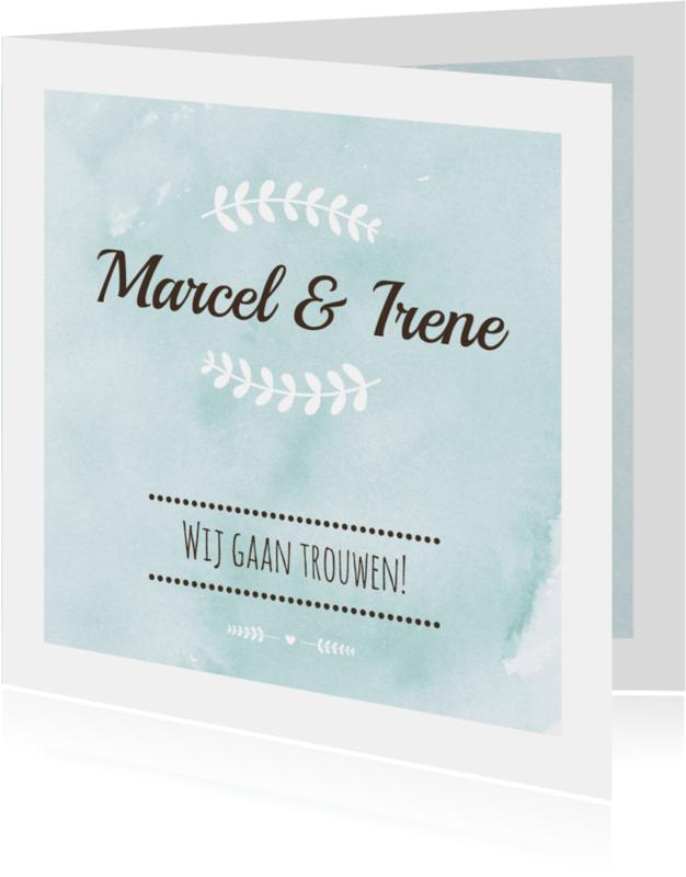 Trouwkaarten - Huwelijk - Watercolour bruiloft
