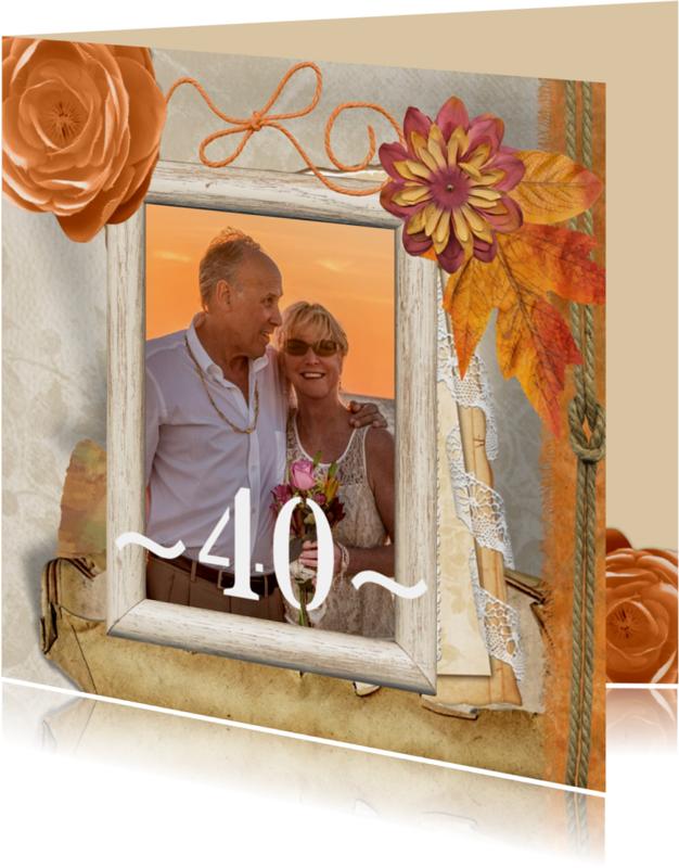 Jubileumkaarten - Huwelijksjubileum 40 collage