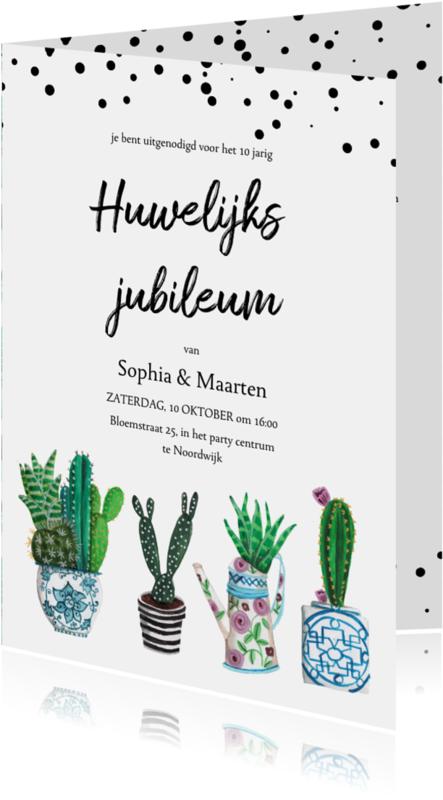 Uitnodigingen - Huwelijksjubileum cactus uitnodiging
