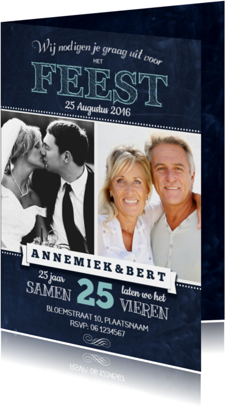 Jubileumkaarten - Huwelijksjubileum Schoolbord 3