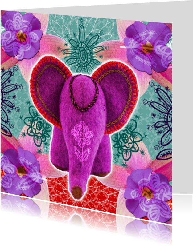 Religie kaarten - Indiaas olifantje
