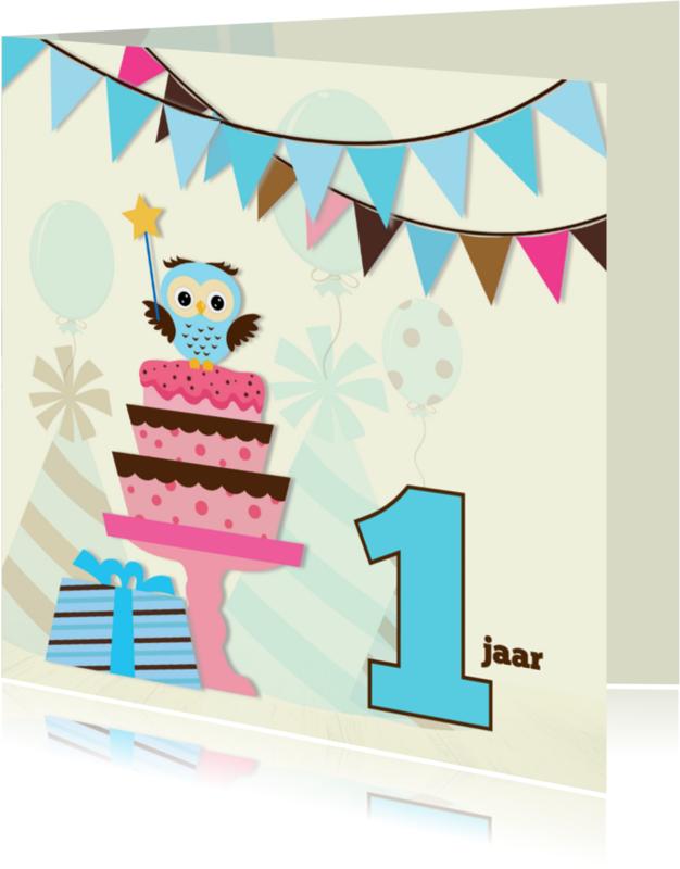 Verjaardagskaarten - Jarige jongen-variabele leeftijd