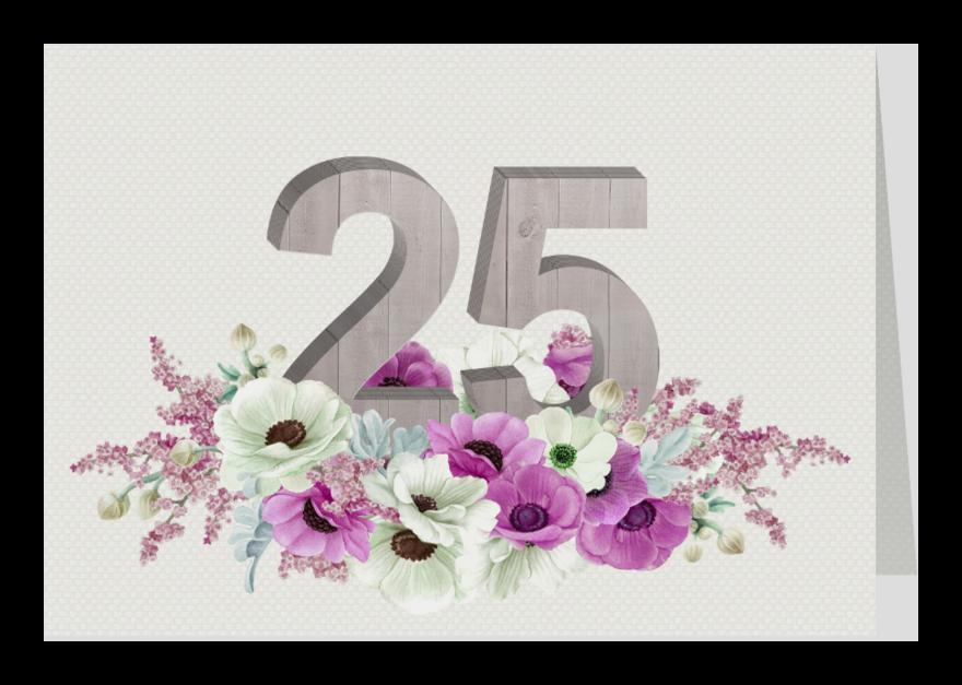 Jubileumkaarten - Jubileum anemonen 25 jaar