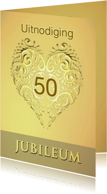 Jubileumkaarten - jubileum goud