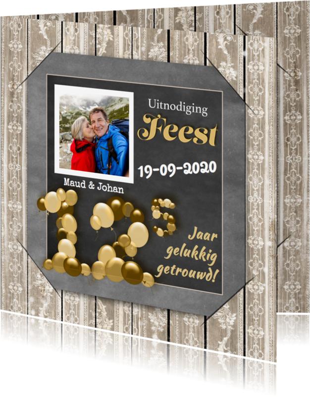 Jubileumkaarten - Jubileum krijtbord en hout 12.5