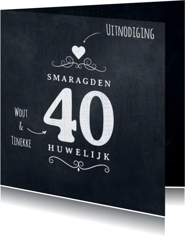 Jubileumkaarten - Jubileumkaart 40 jaar krijtbord