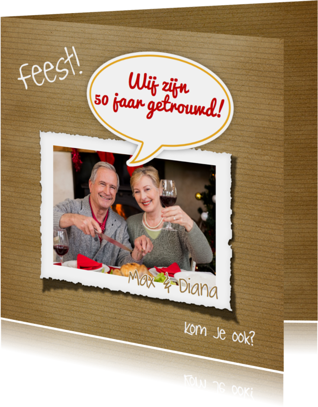 Jubileumkaarten - Jubileumkaart foto en tekstballon