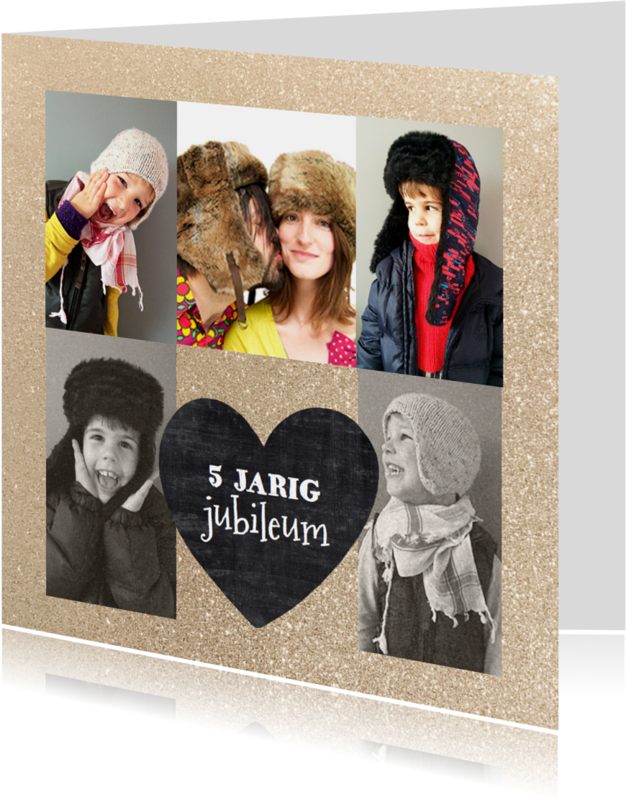 Jubileumkaarten - Jubileumkaart schoolbord hart