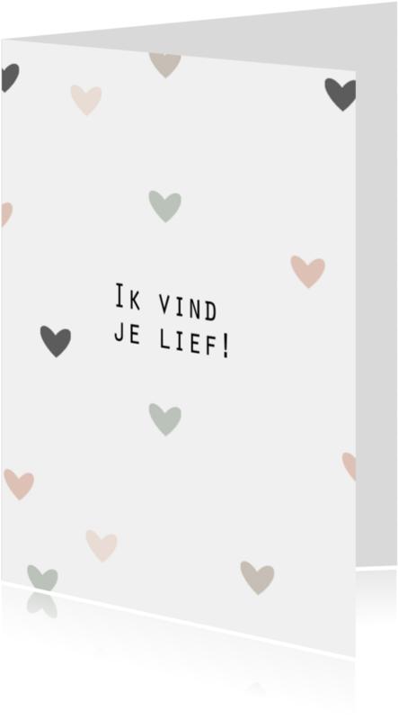 Valentijnskaarten - Kaart ik vind je lief