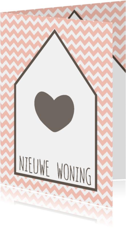 Verhuiskaarten - Kaartje Nieuwe Woning Zigzag -WW