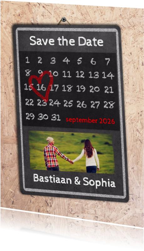 Trouwkaarten - Kalender OSB Save the Date - BK
