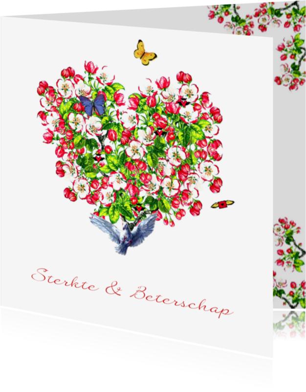 Beterschapskaarten - KendieKaart-Sterkte-Blossom Hrts