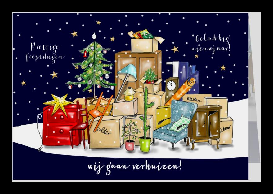 Kerstkaarten - Kerst - alles ingepakt