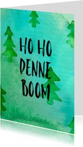 Kerstkaarten - Kerst-denneboom-watercolour-ADG