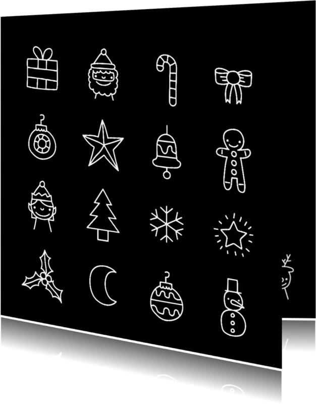 Kerstkaarten - Kerst doodles