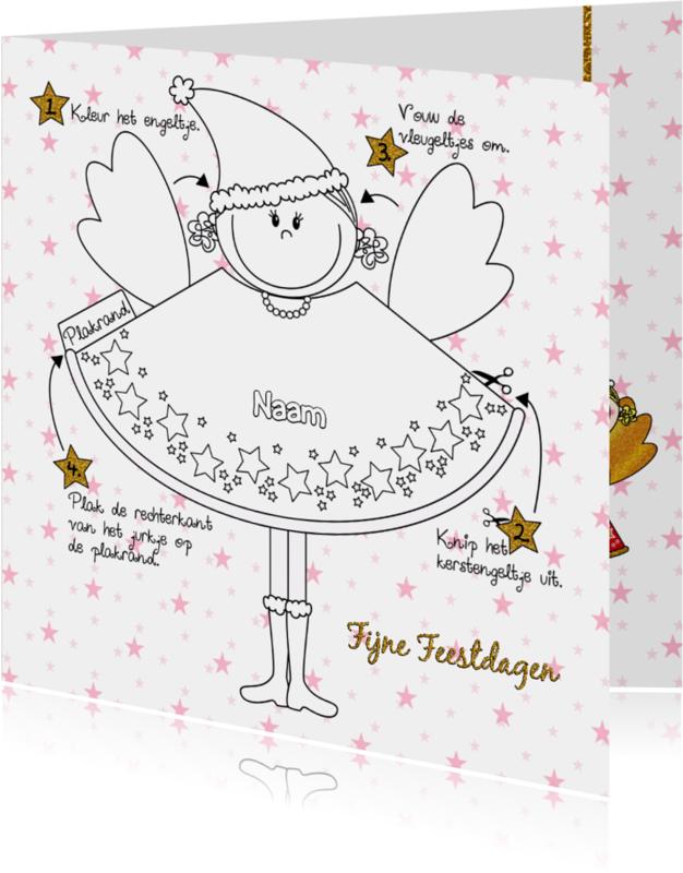 Kerstkaarten - Kerst engel knutselen DIY