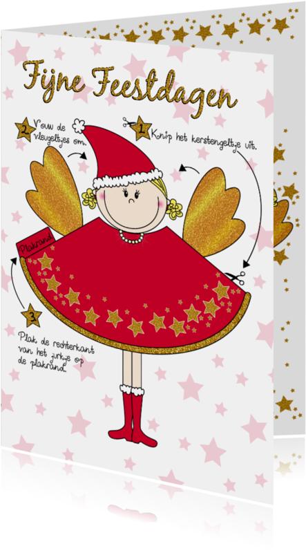 Kerstkaarten - Kerst engeltje knutselen DIY